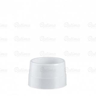 Tazza caffè doppia parete di plastica bianca cc 85