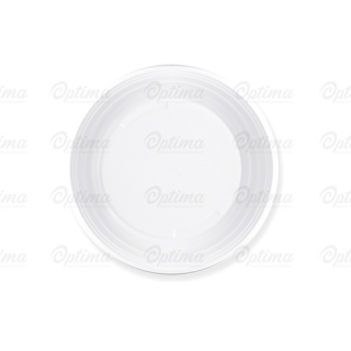 Piatto di plastica bianca dessert gr 5 diametro cm 17