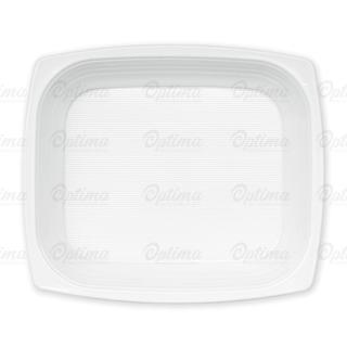 Piatto di plastica bianca fondo gr 17 cm 18x21