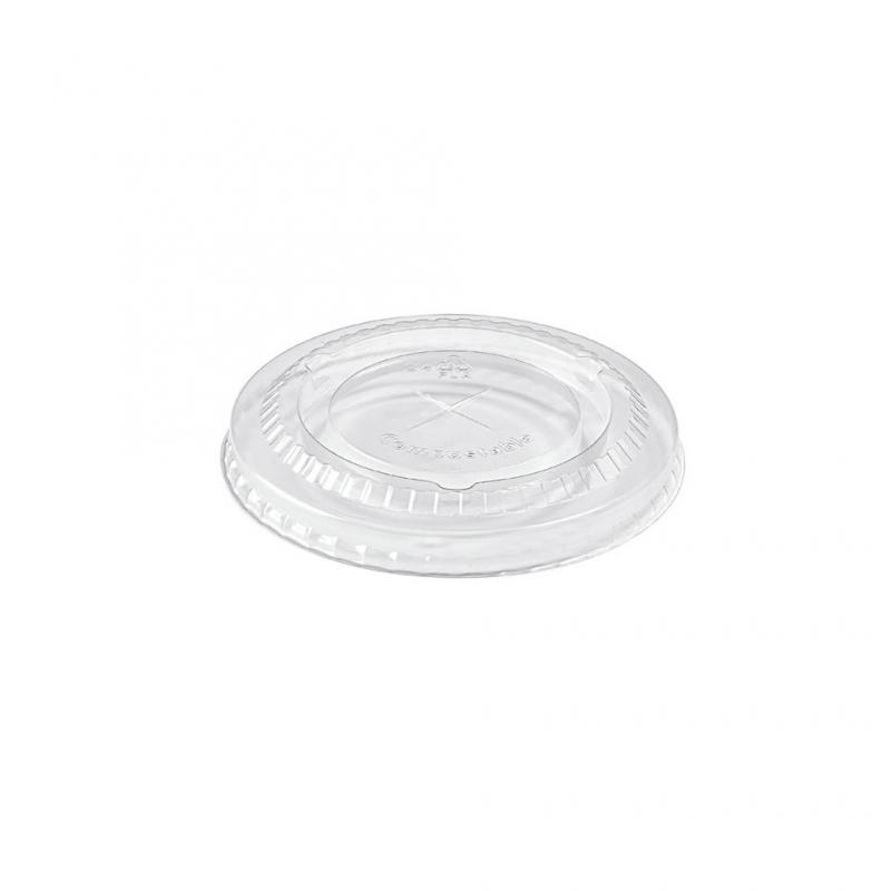 Coperchio in PLA con taglio a croce  per Bicchiere cod  92900-92901-92902 Biodegradabiele e compostabile