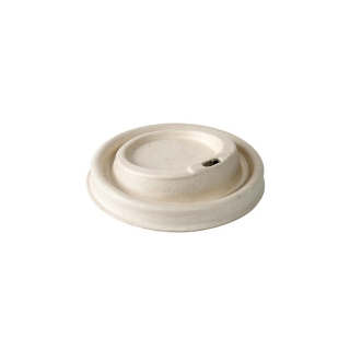 Coperchio in polpa di cell. con becc. per Bicchiere cod 92900-92901-92902  Biodegradabiele e compostabile