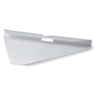 Vassoio prendipizza bianco in cartoncino ondulato cm 28x2x21