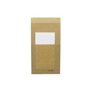 Sacchetto politenato avana porta panino cm 11x23 con tovagliolo