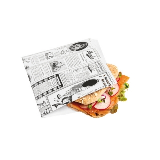 Busta Bianca stampa giornale aperta su 2 lati cm 17x17
