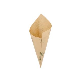Cono di carta pergamina antigrasso Green lati cm 24x17 gr 100