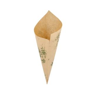 Cono di carta pergamina antigrasso Green lati cm 29,5x21 gr 250