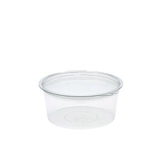 Contenitore tondo in Pet con coperchio Ø cm 15x15x6,5 cc 750