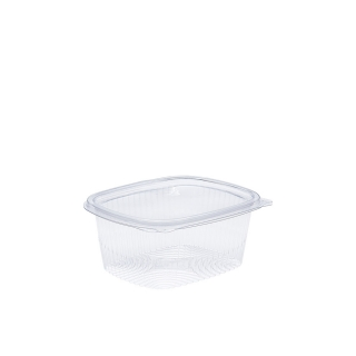 Vaschetta in OPS ovale con coperchio cm 14,6X11,1X4,5 cc 500