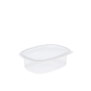 Vaschetta in OPS ovali con coperchio cm 16,3x12,5x4,5 cc 510