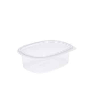 Vaschetta in OPS ovali con coperchio cm 18,2x13,9x5,3 cc 750