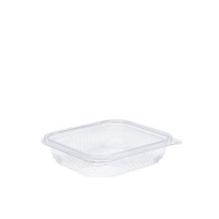 Vaschetta in PET rettangolare con coperchio cc 250 cm 13,8x12,6x3,4