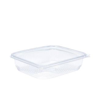 Vaschetta in PET rettangolare con coperchio cc 750 cm18,4x15,7x4,7