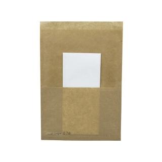 Sacchetto politenato porta panino cm 14x30 con tovagliolo