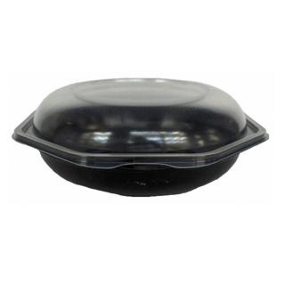 Vaschetta ottagonale nera con coperchio cm 19x19x7,1 ml 700