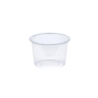 Contenitore  tondo traslucido ml 500 ø cm 11,5 h cm 8