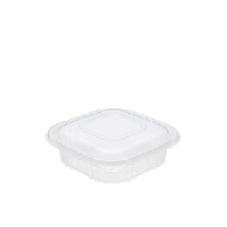 Vaschetta traslucida Cuki cm 15,5x15,5x3,7 in pp con coperchio cc 500