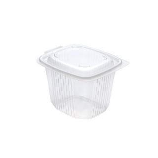 Vaschetta traslucida Ondipack cm 14,2X12,3X10,4 cc 750 in pp con coperchio