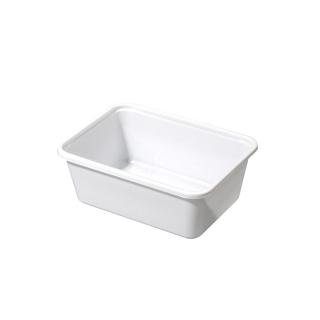 Vaschetta bianca P9 cm 15,2x9,10,8x5,5 in polipropilene