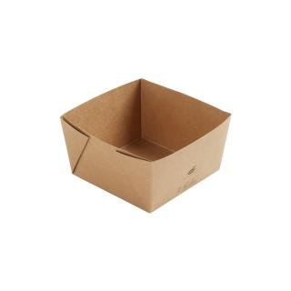 Scatola avana in cartonciono laminato in PE  cm 14x14x7,5