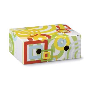Scatola per fritto in cartoncino fantasia generica cm 7,3x11,5x4,5