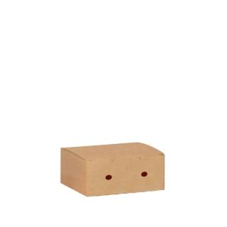 Scatola per fritto in cartoncino avana cm 7,3x11,5x4,5