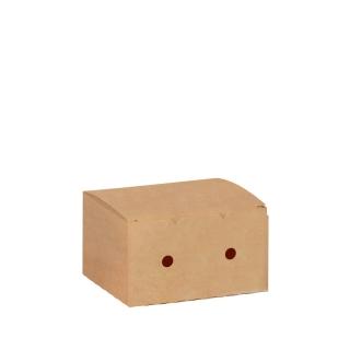 Scatola per fritto in cartoncino avana cm 12x10x7