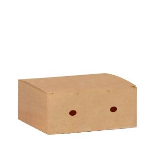 Scatola per fritto in cartoncino avana cm 20x12x7