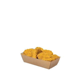 Vaschetta porta fritto in cartoncino avana cm 10x6,8x4,5