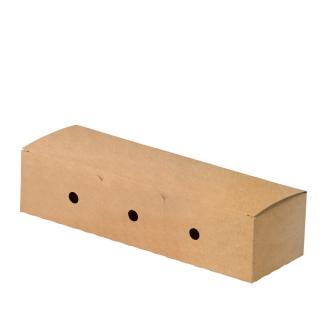 Porta Hot Dog richiudibile in cartoncino avana cm 23x7,3X5,45