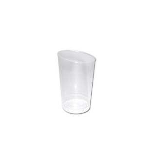 Bicchierino Conico Maxi in plastica trasparente cc 120