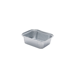 Contenitore in alluminio cm 14,4x11,9x4,4 cc 500 ( 1 porzione)
