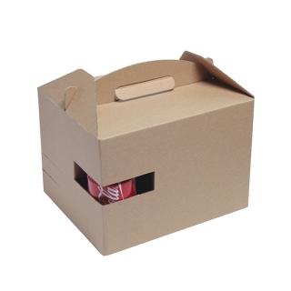 Scatola take away con manico e scomparto reggibicchiere cm 30x20x17,5
