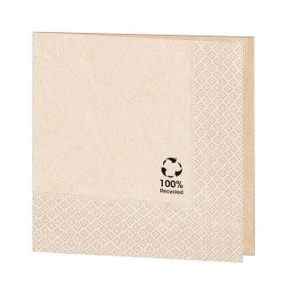 Tovagliolo cm 33x33 2 veli avana carta 100% riciclata