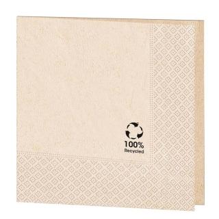 Tovagliolo cm 40x40 2 veli avana carta 100% riciclata