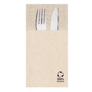 Tovagliolo cm 40x40 2 veli avana pocket carta 100% riciclata