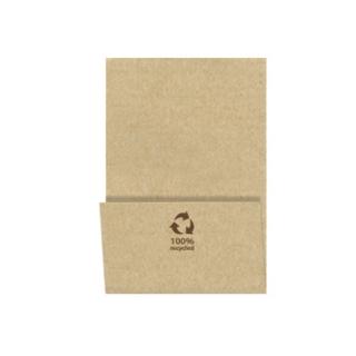 Tovagliolo cm 17x17 1 velo avana carta 100% riciclata