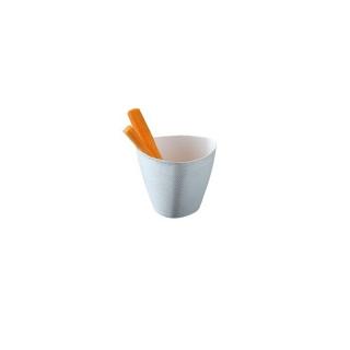 Bicchiere caffè in cartoncino politenato bianco 4oz ml 118  cf da 50 pezzi