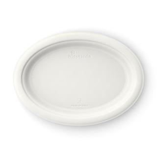 Piatto ovale in polpa di cellulosa Ø cm 26x19