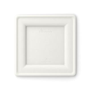 Piatto quadrato in polpa di cellulosa cm 20x20