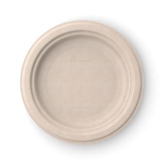 Piatto  piano in polpa di cellulosa non sbiancato Ø cm 23