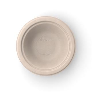 Piatto tondo fondo in polpa di cellulosa non sbiancato da 400 ml