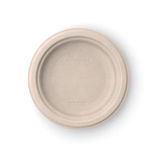 Piatto  piano in polpa di cellulosanon sbiancato Ø cm 18