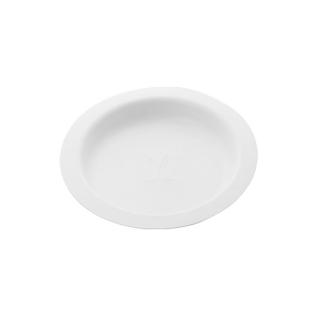 Piatto Gourmet piano  in polpa di cellulosa  Ø cm 17,5