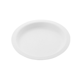 Piatto Gourmet piano  in polpa di cellulosa  Ø cm 22,5