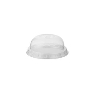 Coperchio dome con pretaglio cannucia per bicchiere in PLA Bio cc 390