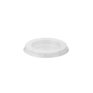 Coperchio piatto con pretaglio cannucia per bicchiere in PLA Bio cc 575