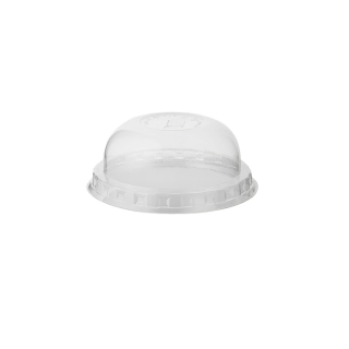 Coperchio dome con pretaglio cannucia per bicchiere in PLA Bio cc 575