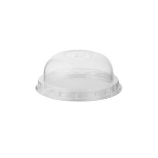 Coperchio dome con pretaglio cannucia per bicchiere in PLA Bio cc 630