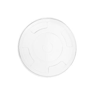 Coperchio in PLA piatto con taglio cannuccia per bicchiere 9/12/16oz