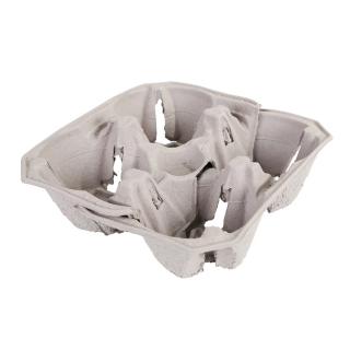 Porta bicchieri cm 12x20x5,4 in cartoncino riciclato 2+2 posti